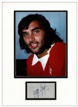 George Best Autograph Signed Display